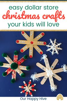 3 Easy Dollar Store Christmas Crafts Every Kid Will Love