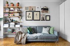 small gray scandinavian apartment