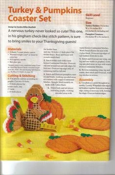 Turkey/pumpkins coaster set 1 of 2 Plastic Canvas Coasters, Plastic Canvas Ornaments, Plastic Canvas Crafts, Plastic Canvas Patterns, Thanksgiving Projects, Plastic Sheets, Stuffed Animal Patterns, Diy Canvas, Coaster Set