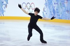 Japanese figure skater Hanyu practises in preparation for the 2014 Sochi Winter Olympics