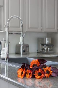 #Kitchen Idea of the Day: Classic Gray Kitchens Gallery. Professional faucet.