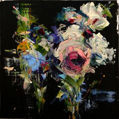 "Carmelo Blandino; Acrylic 2014 Painting ""Bouquet in D Minor part3 36""x 36"" acrylic on canvas"