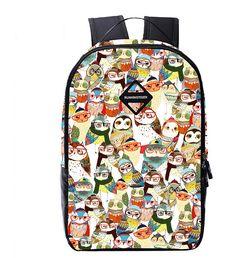2016 Women Men Printing Backpacks Owl Backpack For Teenage Boys Girls Cartoon Bag Student School Bag Mochila Feminina