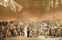 The Tennis Court Oath, 20th June 1789 - Jacques-Louis David