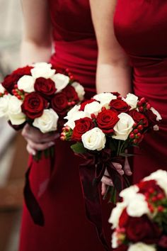 Wedding flowers red bouquet bridesmaid dresses ideas for 2019 – Best Wedding Ceremony Ideas Red Bouquet Wedding, Red Wedding Flowers, Wedding Colors, Christmas Wedding Flowers, Red Rose Bouquet, Red Rose Boutonniere, Christmas Wedding Decorations, Hand Bouquet, Send Flowers