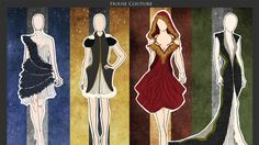 """""""Stunning Hogwarts-themed dresses are high fashion magic"""" Not crazy about the one for my house (Slytherin)! What do you guys think of this collection?"""