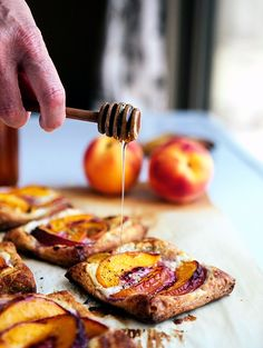 Peach Tarts with Goat Cheese & Honey - Some the Wiser