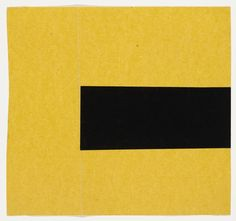 Ellsworth Kelly Black and Yellow from the series Line Form Color 1951 MoMA Ellsworth Kelly, Hard Edge Painting, Action Painting, Painting & Drawing, Mellow Yellow, Black N Yellow, Color Black, Land Art, Famous Abstract Artists