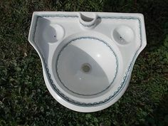 Antique Early Victorian Blue and white Transferware Porcelain Sink Circa 1880s by Almasfarmhouse on Etsy