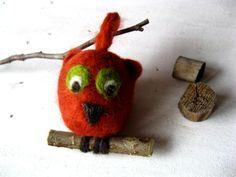 Eule orange von Ranitas Art auf DaWanda.com