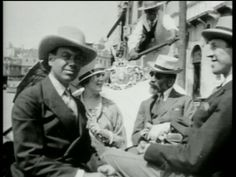 "linda and cole porter and monty wooley in venice from the ""cole porter you're the top"" dvd"