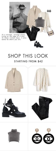 """Be where you are"" by tasteofbliss ❤ liked on Polyvore featuring Vanessa Bruno Athé, Chicwish, Balenciaga, AG Adriano Goldschmied, Chanel and Hermès"