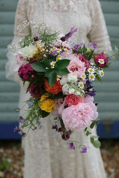 real bride #wedding #flowers #bouquet #wild #pretty #beautiful #colourful #rustic #elegant Tarah Coonan Photography