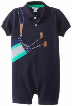 Kitestrings Baby-Boys Infant Pique Golf Applique Romper e9e282f28
