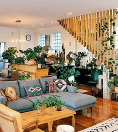 Home Interior Decoration Ideas Boho Living Room, Living Room Colors, Home And Living, Living Spaces, Living Room Decor With Plants, Modern Living, Interior Design Living Room Warm, Home Interior, Living Room Designs