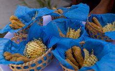 Comidinha: FISH and CHIPS Peixe Fritinho com batata chips de batata doce Festa infantil com tema 'Fundo do Mar' no 'Fazendo a Festa' - Fazendo a Festa - GNT