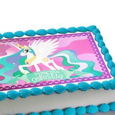My Little Pony Princess Celestia Edible Image Cake Decoration cakepins.com
