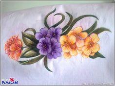 Pintura en tela realizada por Vicenta.    #manualidades #pinacam #pintura #tela            www.manualidadespinacam.com