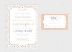 Printable Wedding Invitation & RSVP by GoldFoxPaper on Etsy, $57.00