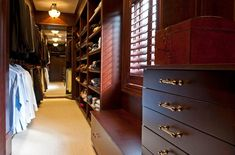 Here is the best closet organization ideas and designs which will inspire you. These are the best and easy option that you can also built in your house. Best Closet Organization, Organization Ideas, Dark Brown Cabinets, Beautiful Closets, White Drawers, Small Space Storage, Wardrobe Storage, Room Closet, Closet Designs
