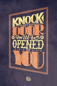 Door will be Opened Matthew 77 Print by RachelKruegerCreates, $20.00