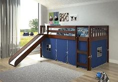 Love Texas! Love Low Lofts with Slides for Kids! by bunkbedkingdom