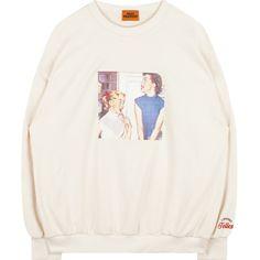 Vintage Sisters Print Sweatshirt ($33) ❤ liked on Polyvore featuring tops, hoodies, sweatshirts, bunny sweatshirt, pleated top, cut loose tops, embroidered sweatshirts and vintage tops