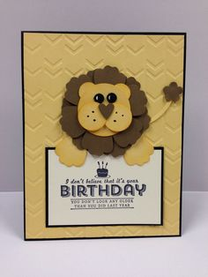 Lion Punch Art Stampin Up Birthday Card Kit (5 cards) in Crafts | eBay
