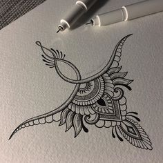 High back tattoo – nape Mandala Tattoo – Fashion Tattoos Kunst Tattoos, Tattoo Drawings, Body Art Tattoos, New Tattoos, Future Tattoos, Tattoo Sketches, Small Tattoos, Weird Drawings, Underboob Tattoo