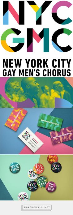 Brand New: New Logo and Identity for New York City Gay Men's Chorus by Hieronymus... - a grouped images picture - Pin Them All