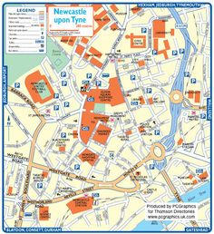 Map of Newcastle upon Tyne created in 2011 for Thomson Directories. One of approximately 350 UK town and city maps produced royalty free. Find out more... http://www.pcgraphics.uk.com or read our blog... http://www.pcgraphics.uk.com/blog/