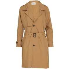 Ganni Trench coat ($110) ❤ liked on Polyvore