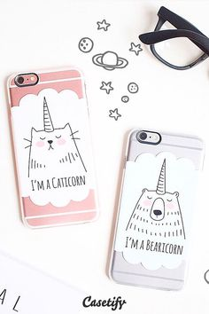 Are you feeling like a Caticorn or a Bearicon today? Click through to see more iPhone 6 case designs by Happy Cat Prints >>> https://www.casetify.com/happycatprints/collection   @casetify