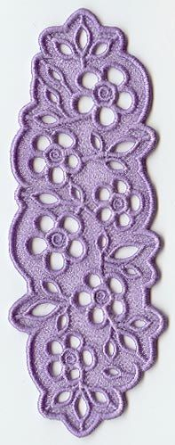Machine embroidered flower bouquet lace bookmark by BelsEmbroidery, $5.00