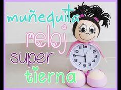 muñeca fofucha con reloj despertador - decora tu habitacion - room decor - YouTube Foam Crafts, Diy And Crafts, Clock, Youtube, Pasta, Kawaii, Patterns, Disney, House