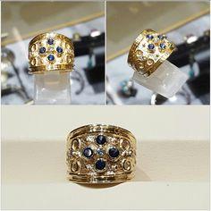 Ceylon sapphire and diamond ring. 14k yellow gold $3,800.00