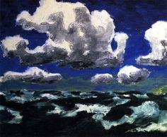 """""""Summer Clouds"""" by Emile Nolde, 1913"""
