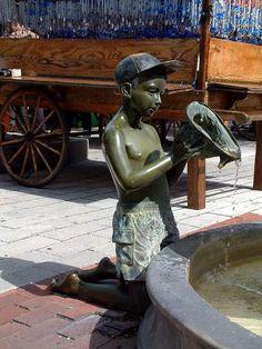 Boy At Fountain - Key West, Florida