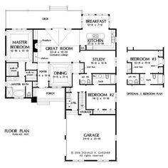 NEW HOUSE PLAN – THE WYNETTE #5027 IS NOW AVAILABLE - HousePlansBlog.DonGardner.com – New house plan! The Wynette #5027 is a small rustic home with a versatile floor plan that gives you the option to chose between a study and a third bedroom. #dreamhomeplan #dreamhouseplan #homeplan