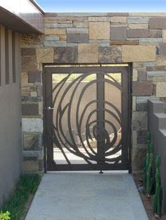 5 Fortunate Tips: Tree Fence Chicken Wire fence lighting.Fence Classic Dream Homes old fence pictures.Fence Classic Dream Homes. Metal Gates, Wrought Iron Gates, Front Gates, Entry Gates, Front Fence, Brick Fence, Porte Design, Door Design, Balustrade Balcon