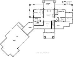 Ranch Style House Plan - 3 Beds 3.50 Baths 3398 Sq/Ft Plan #895-29 Floor Plan - Lower Floor Plan