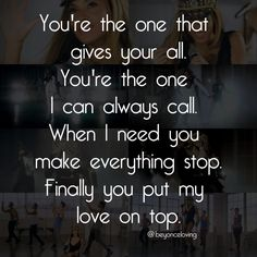 Beyonce - Love On Top (song lyrics)