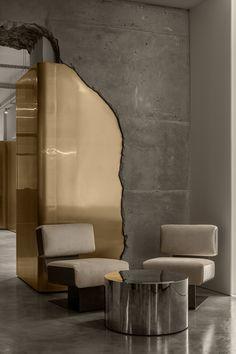 Revit Architecture, Interior Architecture, Cafe Design, House Design, Café Bistro, Hanging Hammock Chair, Curved Walls, Iron Age, Interior Exterior