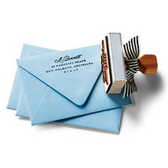 Return Address Stamp (Via @Southern Living  www.southernliving.com) #houswarming #cute