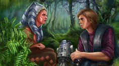 Fanart- The Clone Wars Anakin and Ahsoka Tano Best Star Wars Characters, Star Wars Books, Star Wars Love, Star Wars Fan Art, Star Wars Clone Wars, Star Trek, Ahsoka Tano, Anakin Skywalker, Star Wars Collection