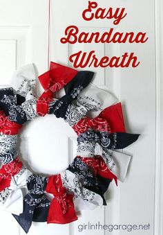 Easy Bandana Wreath