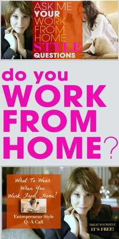 Join me for a What to Wear When You Work from Home Style Mentoring Q&A Call: http://www.focusonstyle.com/workfromhome    Are you a female entrepreneur, stay at home mom, creative or do anything else that calls home your office?    If you do call home your office, I'm hosting a FREE Style Mentoring Insider's Q&A Call:  http://www.focusonstyle.com/workfromhome    #workfromhome #entrepreneur