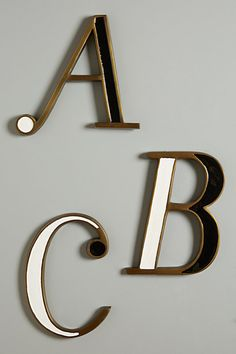Hanging Monogram Letter #anthropologie