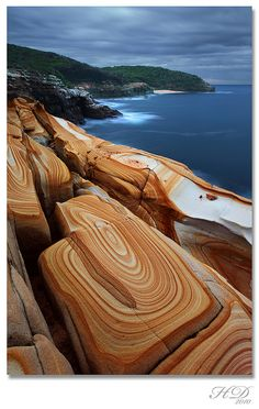 Liesegang Rings, Bouddi National Park, New South Wales, Australia.