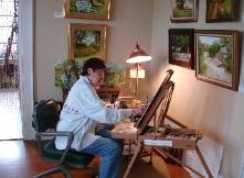 Barbara at work ;-) Mommie Dearest, Art Studios, Art Gallery, Artist, Furniture, Home Decor, Art Museum, Room Decor, Fine Art Gallery